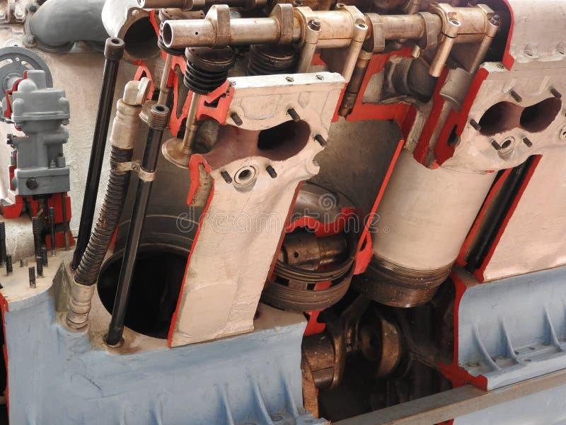 Interne componenten en delen van vliegtuigenmotor royalty-vrije stock foto