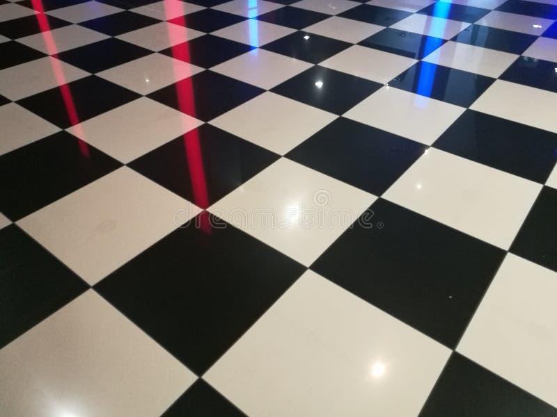 Interne geruite vloer stock foto's
