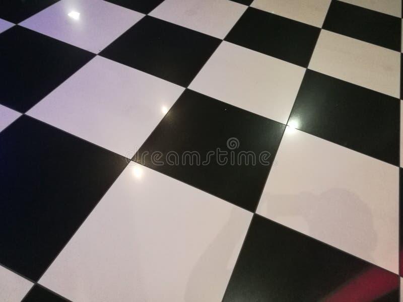 Interne geruite vloer stock afbeelding