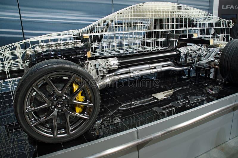 Interne Mechanikerbildschirmanzeige des Lexus Baumusters 2010 stockbild