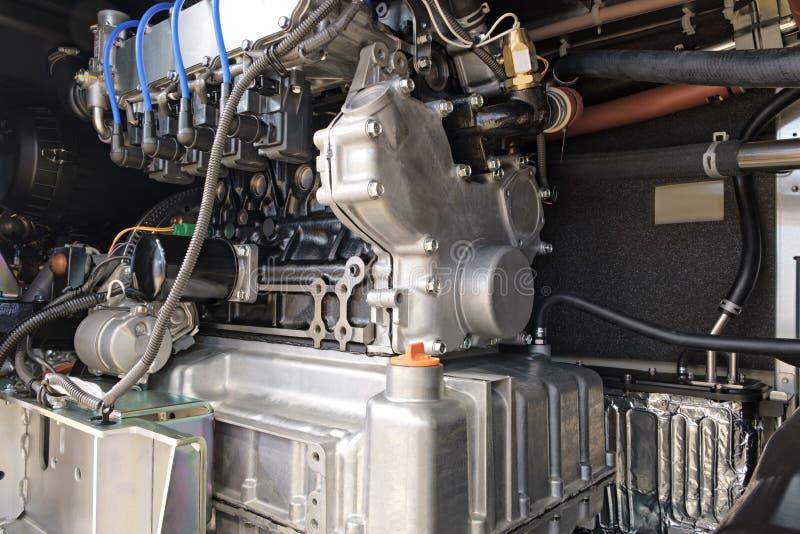Interne Struktur einer großen industriellen Klimaanlage und der Lüftungsanlage, Pumpenkompressor für Verdampfer stockfoto