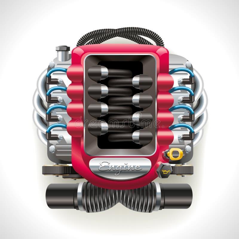 Interne verbrandingsmotor stock illustratie