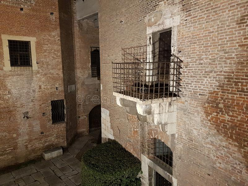 internen van Verona& x27; s kasteel royalty-vrije stock foto's