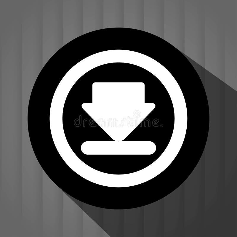 Interner download round icon. Design, illustration graphic royalty free illustration