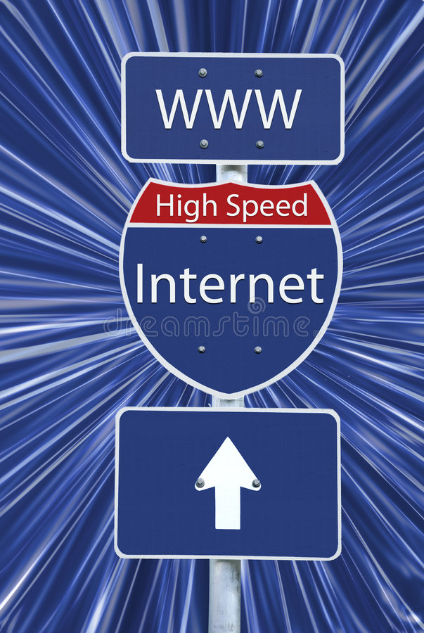 Internet à grande vitesse - le chemin de découpage a compris images stock