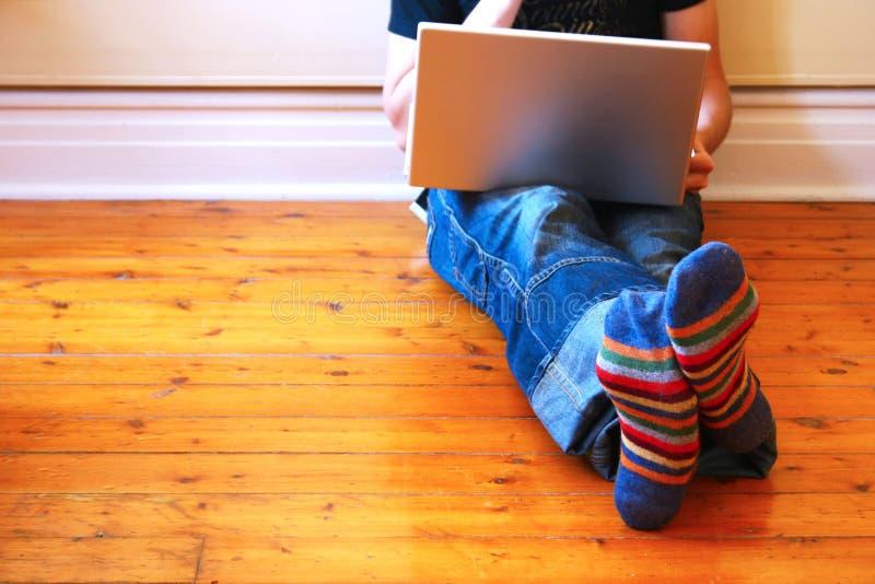 Internet à la maison photographie stock