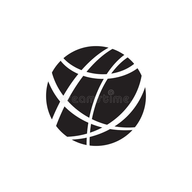 Internet - ícone preto na ilustração branca do vetor do fundo para o Web site, aplicação móvel, apresentação, infographic global ilustração stock