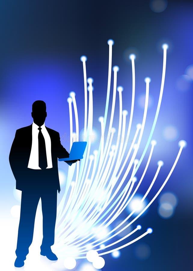 Internet óptico de fibra de la comunicación empresarial ilustración del vector