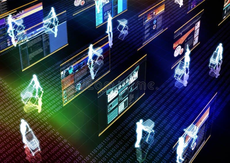 Internet 05 de compra ilustração stock