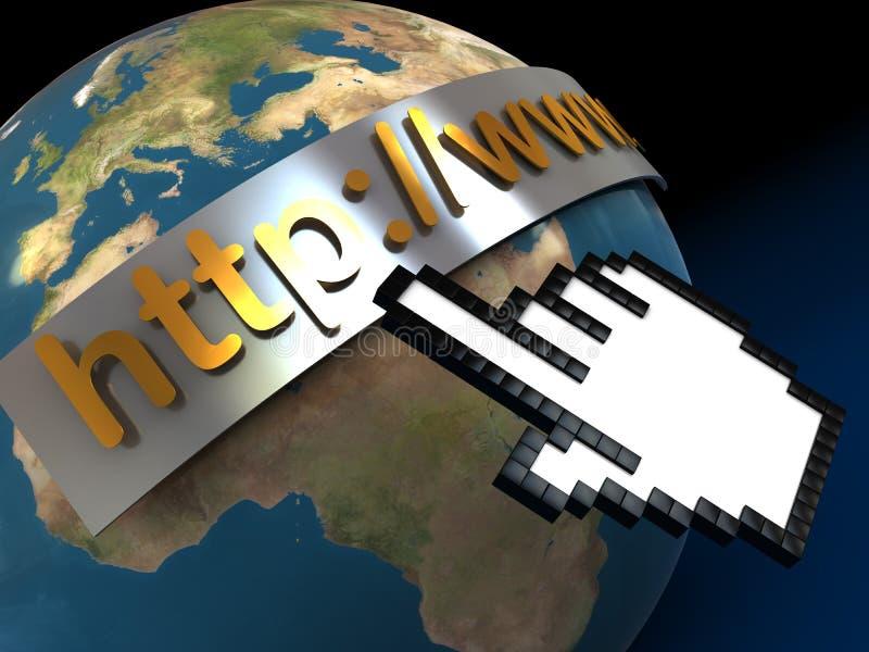 Internet ilustración del vector