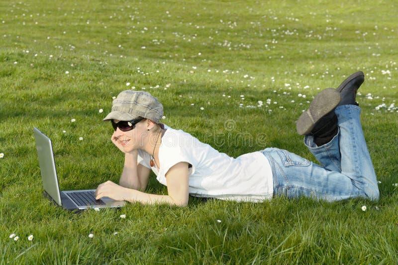 Download Internet stock photo. Image of wireless, computer, grassland - 21455122