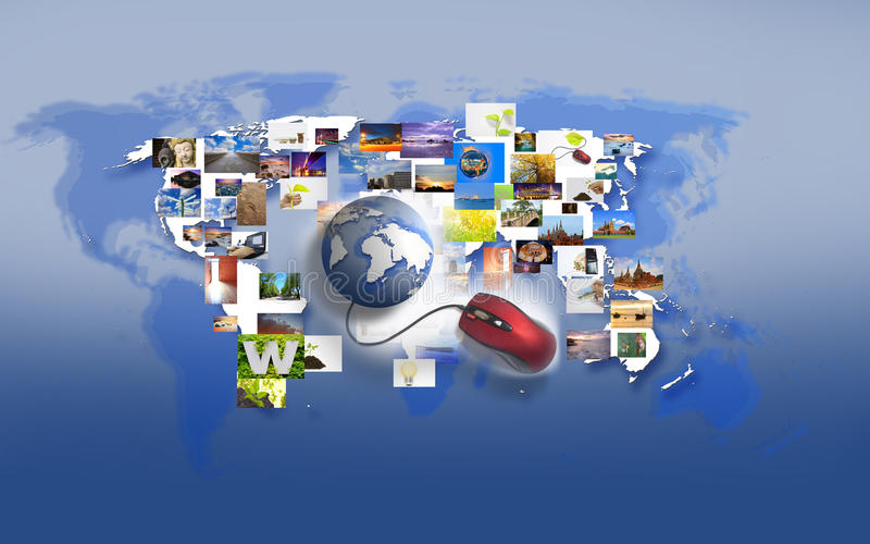 Internet. The Internet to find general no bounds royalty free illustration