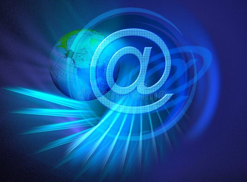 Internet aanslutingen wereldwijd stock illustratie