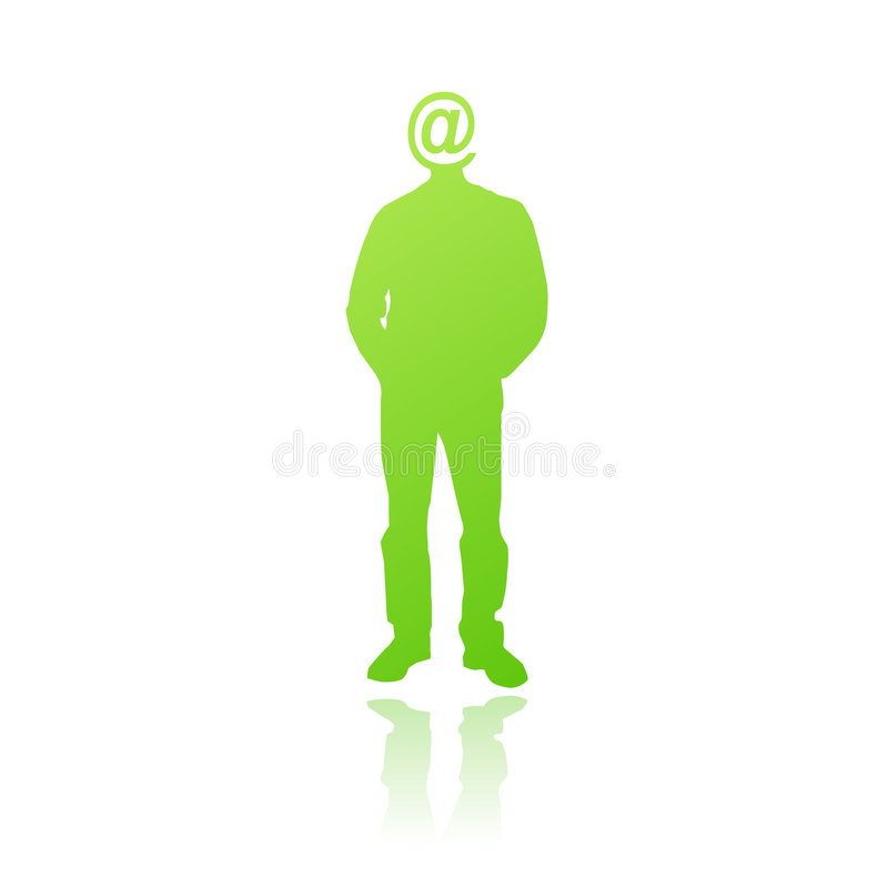 Internet Addicted Person Vector Stock Image