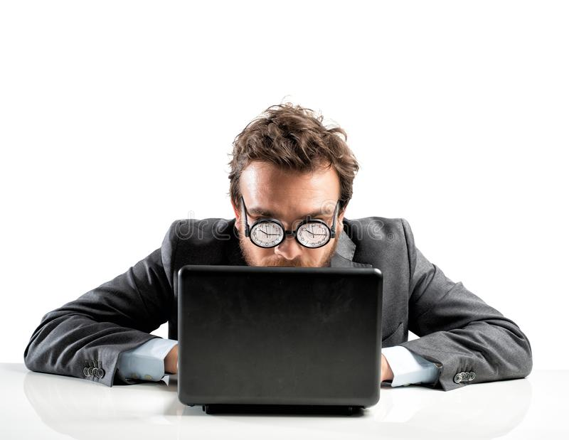 Internet addiction concept royalty free stock photography