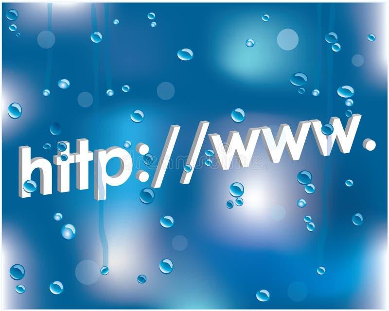 Internet address ilustração stock