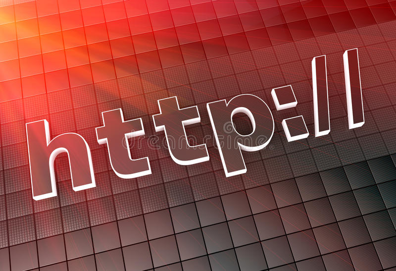 Internet address. Background as concept vector illustration