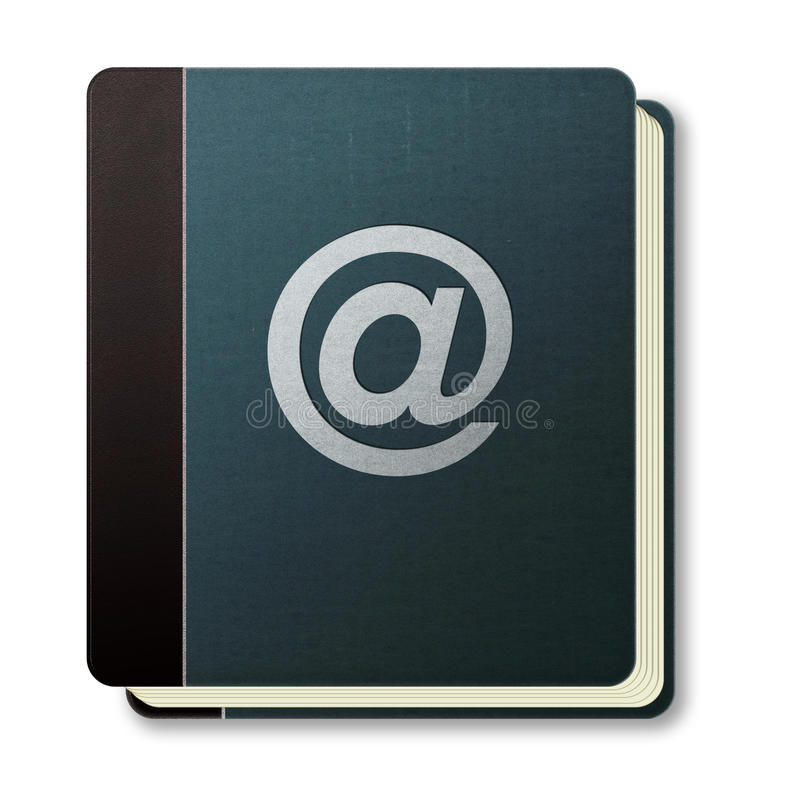 Internet address book icon. An icon for an internet address book vector illustration