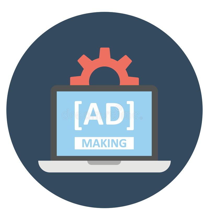 Internet Advertising Management Isolated Vector Icon That ...