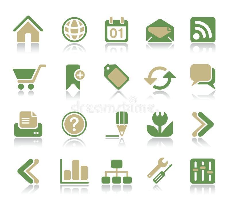 Internet & het Pictogram van het Web vector illustratie