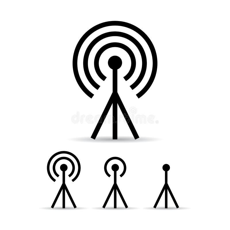 Internet anteny sygnałowa ikona ilustracji