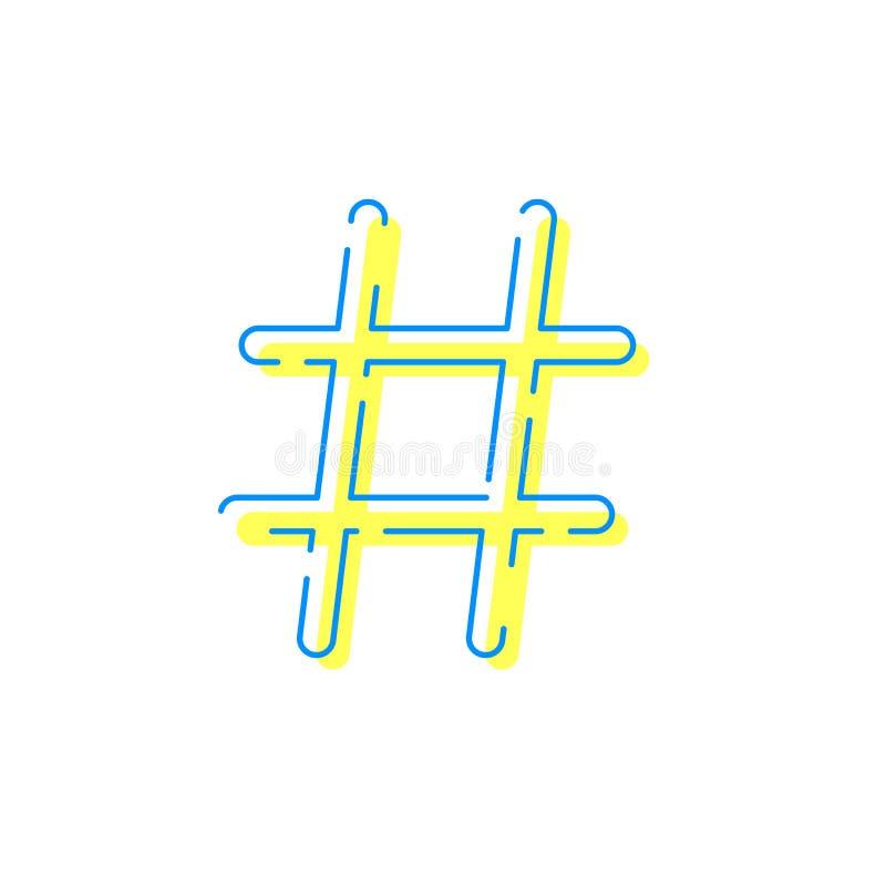 Internet app för nätverk för Hashtag vektorsymbol social vektor illustrationer