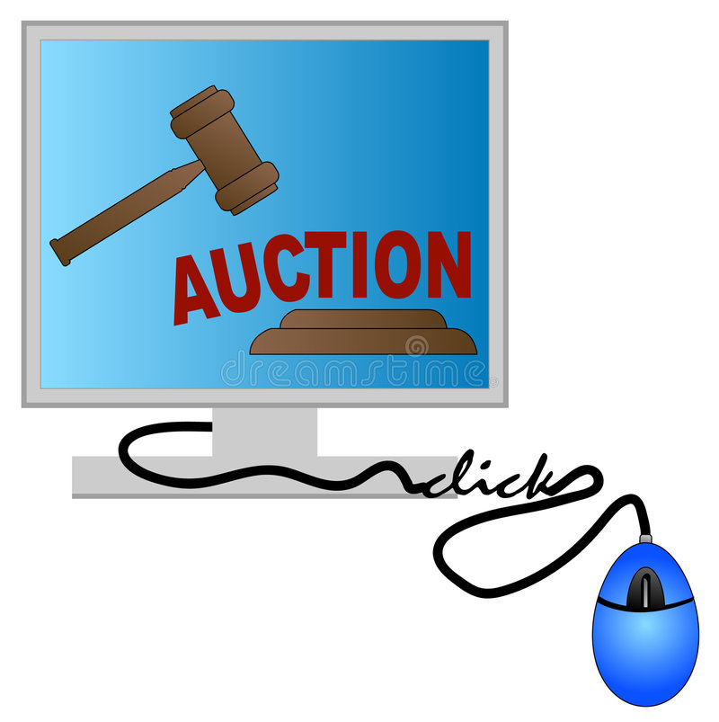 Internet auction vector illustration