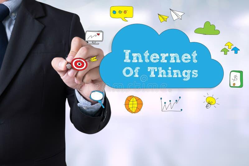 Internet av begreppet för saker (IoT) arkivbild