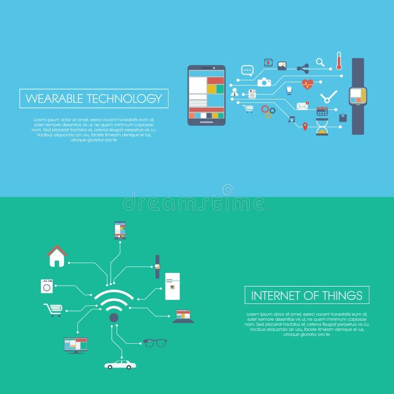Internet av illustrationen för sakerbegreppsvektor royaltyfri illustrationer