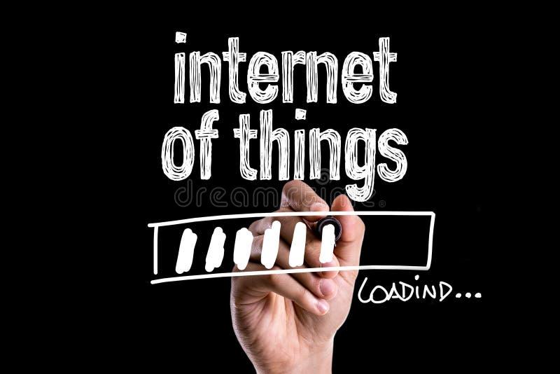 Internet av saker som laddar på en begreppsmässig bild royaltyfri bild