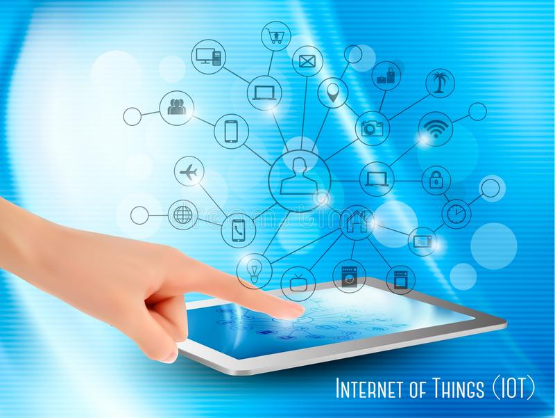 Internet av sakerbegreppet (IoT) vektor illustrationer