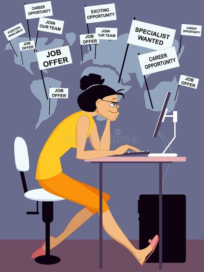 Internet-baanonderzoek stock illustratie
