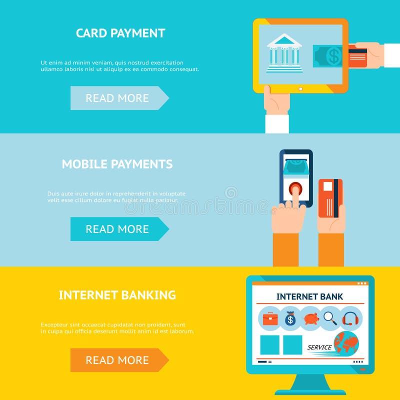 Internet banking e pagamentos móveis ilustração royalty free
