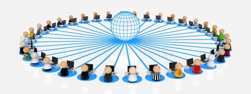 Internet-Benutzer lizenzfreie abbildung