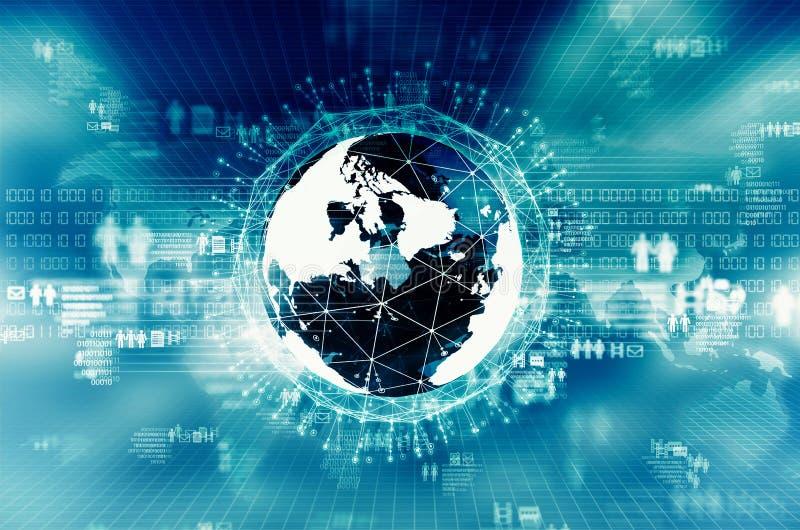 Internet big data concept. Internet Big data visualization. Conceptual image of internet information technology stock illustration