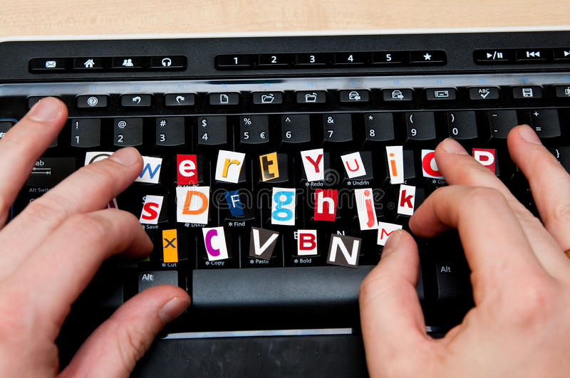 Download Internet blackmail stock image. Image of fingers, email - 17203573
