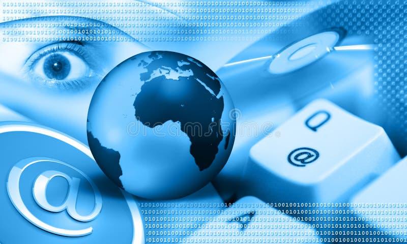 Internet - blauwe aarde stock afbeeldingen