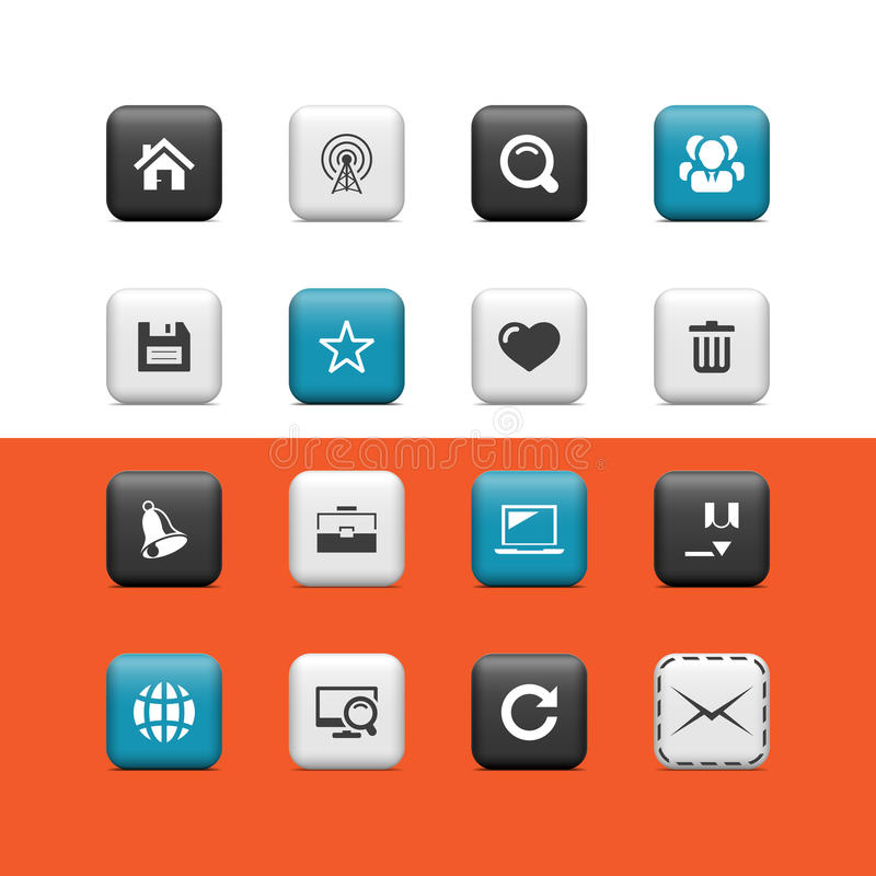 Internet and blog buttons vector illustration
