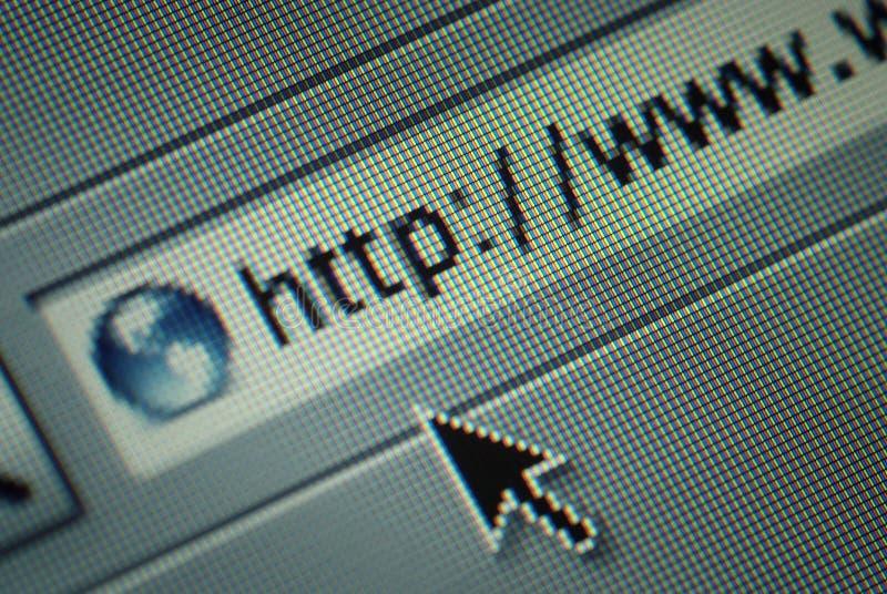 Internet browser address bar royalty free stock photo