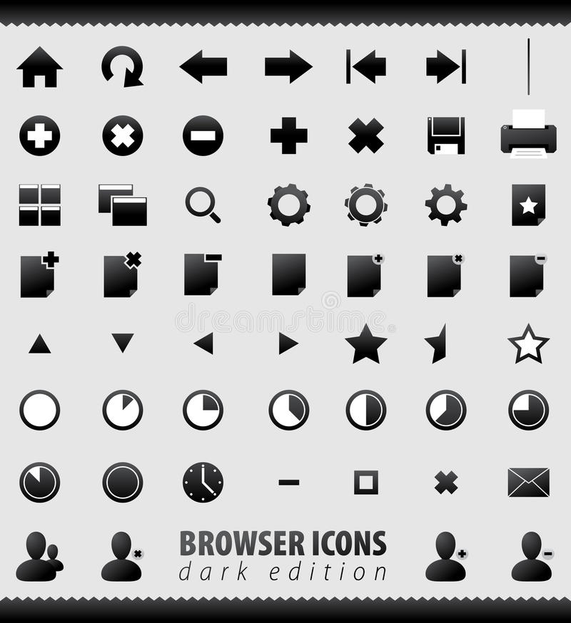 Free Internet Browser And Email Icons Set Royalty Free Stock Photo - 16924805