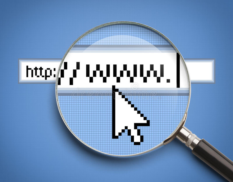 WWW Search Magnifying Glass vector illustration