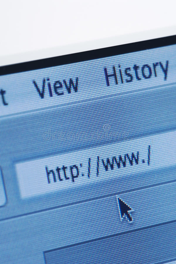 Internet Browser With Blank Web Address Stock Photography