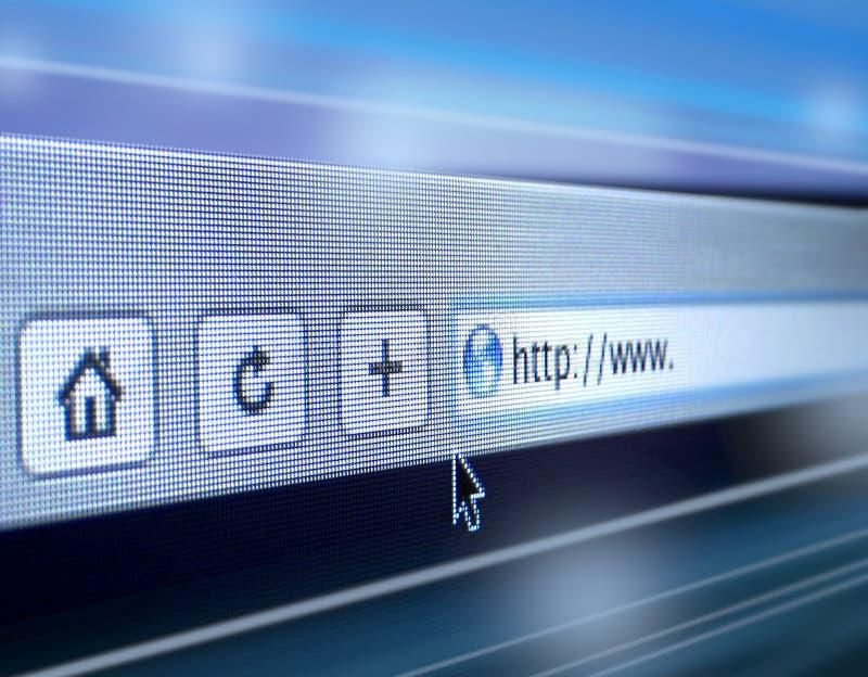 Internet browsing speed. Internet browser window showing pixels
