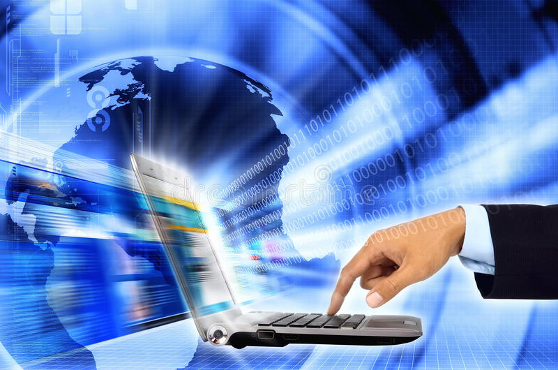 Internet for business stock photography