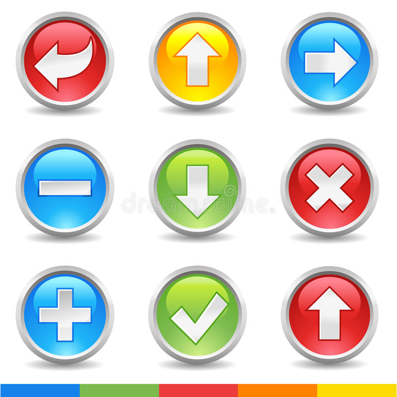 Internet buttons royalty free illustration