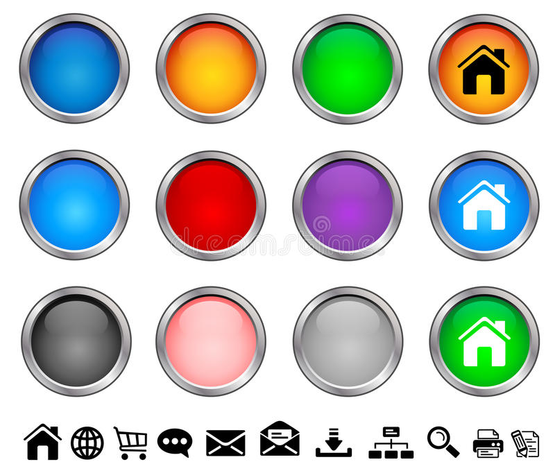 Internet buttons. For your website vector illustration