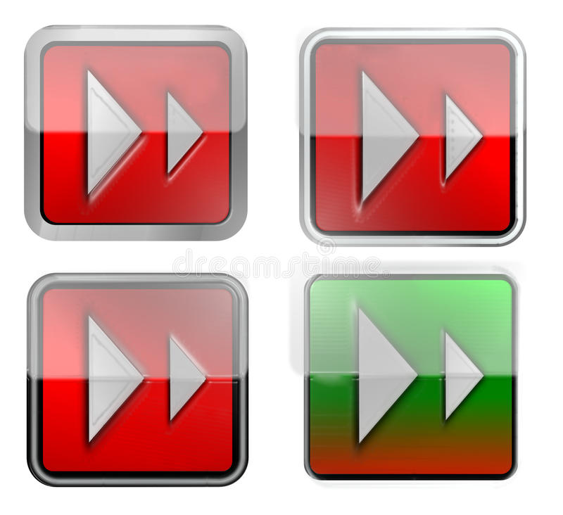 Download Internet buttons stock illustration. Illustration of triangle - 12787305