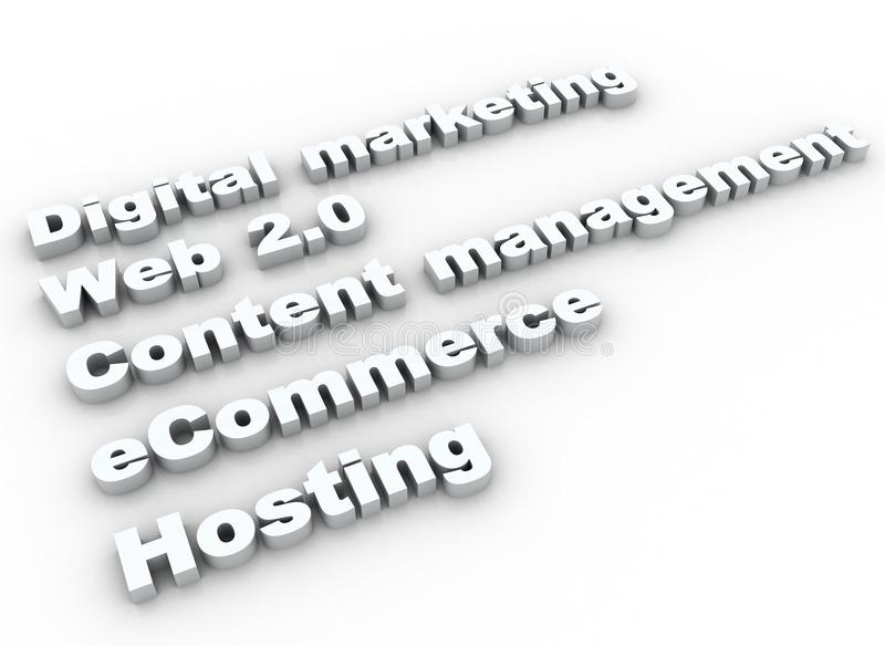 Internet Buzz Words Royalty Free Stock Images