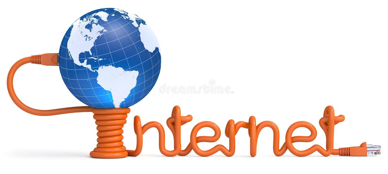 Internet cable vector illustration