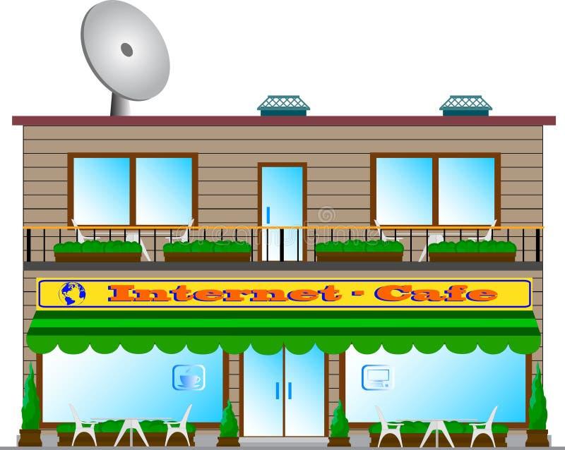 Internet-café. photo stock